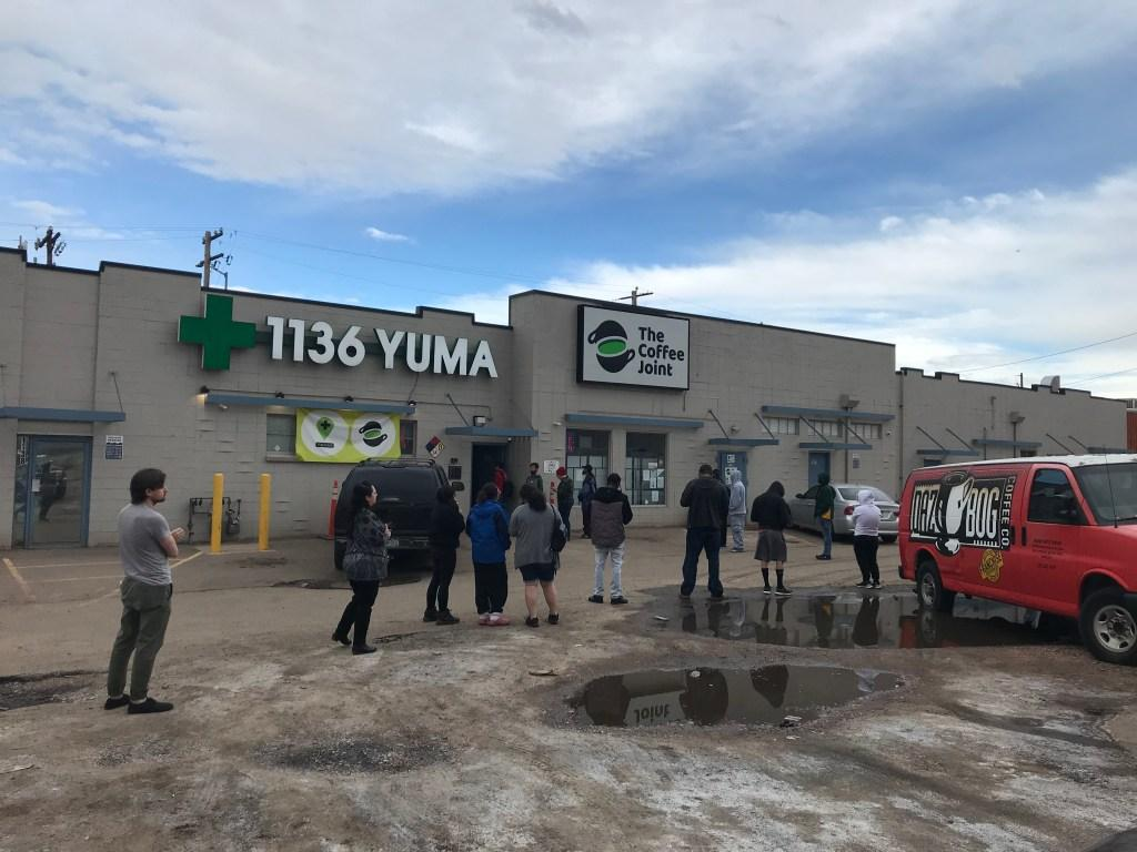 1136 Denver Dispensary rushed with customers on 03/24/2020 before dispensaries were deemed essential by the state.